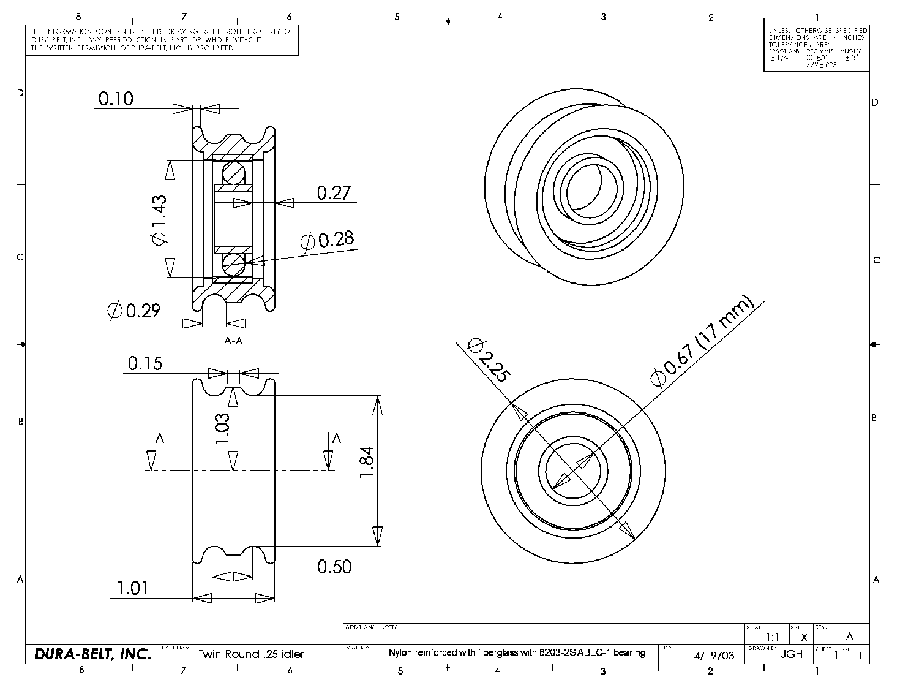 Twin Idler Pulley