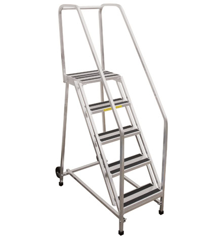 PW Platforms Aluminum Rolling Ladder