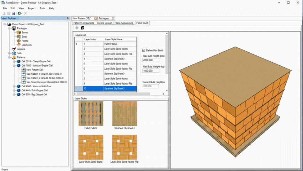 PalletSolver robotic palletizing software suite - Material